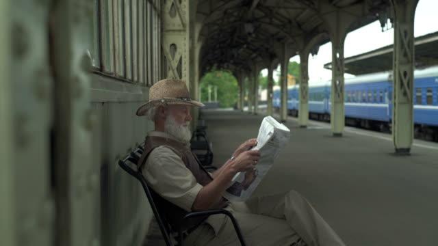 Old Man Reading Latest News video