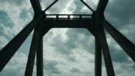 Old metal and wooden bridge. video