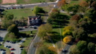 Old Mill Green  - Aerial View - Connecticut,  Fairfield County,  United States video