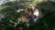 Old Mining Holes Near Belo Horizonte  - Aerial View - Minas Gerais, Brazil video