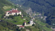 Old Monastery on a Mountain Rock in South Tyrol video