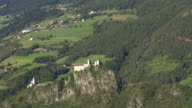 Old Monastery on a Mountain Rock in South Tyrol TU video