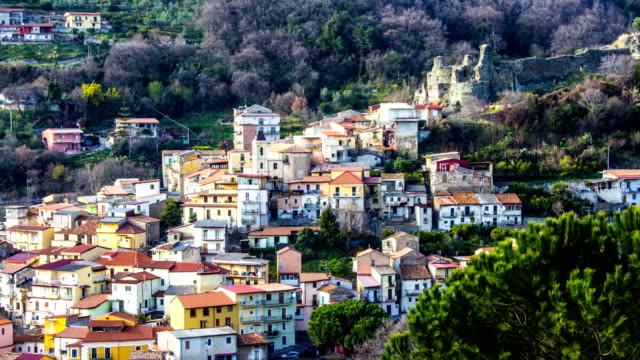 Old Norman's Medieval City, Time Lapse, Lamezia Terme, Calabria, Italy video