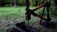 Old Oil Pump Closeup HD video