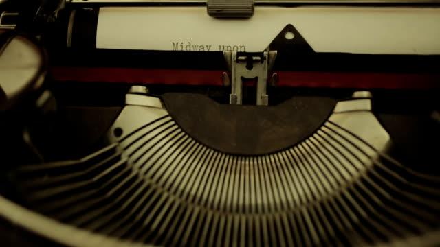 old olivetti typewriter: mechanism, paper, writing, typing, letters, keys, macro video