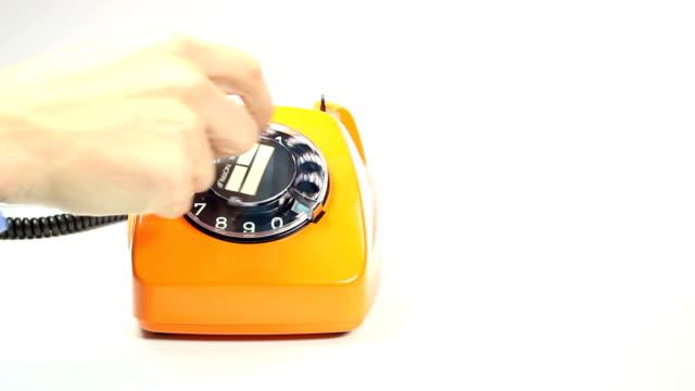 old orange telephone video