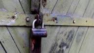 Old padlock. video