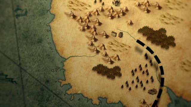 Old pirate treasure map video