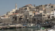 Old port of Jaffa in Tel Aviv Israel video