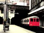 Old Postcard Effect: Train Arrives video