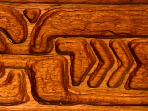 Old primitive polynesian wood carving video