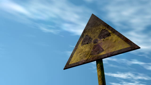 Old Radioactivity Sign | Looped Shot video