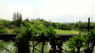 Old railroad near Kwai river, Thailand video