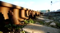 old railroad rusty bolts outdoors video video