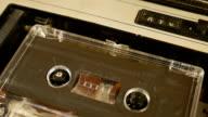 Old retro compact cassette vintage audio recorder video