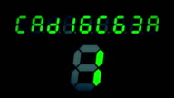 Old Retro Digital Numbers Counting video