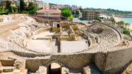 Old Roman Amphitheater ruins, Tarragona, Costa Daurada video