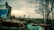 Old ruins of buildings video