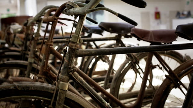 Old rusty bicycles video