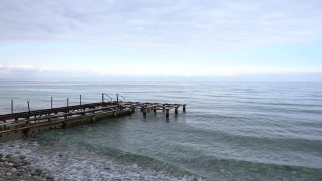 Old rusty hotel iron pier video