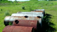 Old rusty tanks waiting to be utilized video