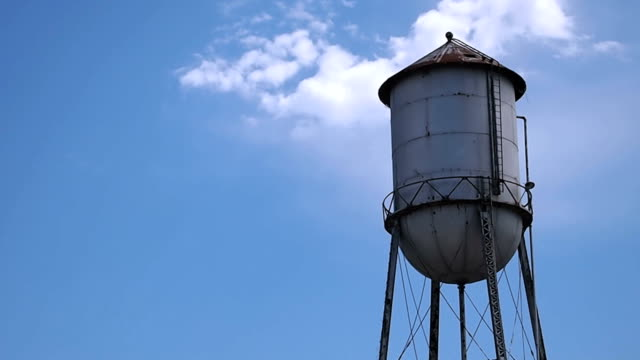 Old Rusty Water Tower on Perfect Blue Sky video