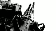 old shipboard anti-aircraft gun video