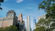 Old skyscrapers of Manhattan, New York, USA video
