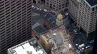 Old State House  - Aerial View - Massachusetts,  Suffolk County,  United States video
