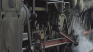 old steam engine closeup video