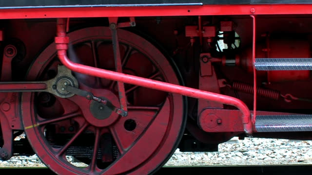 Old Steam Engine Train - close up video