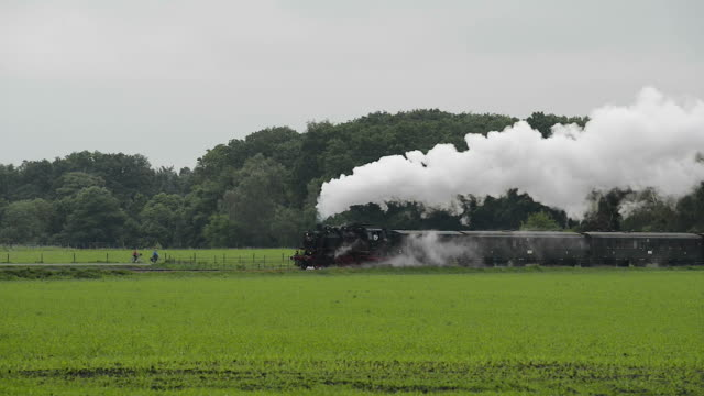 Old Steam Train with sound video