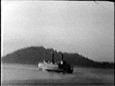 Old steamship - from 1930's film video