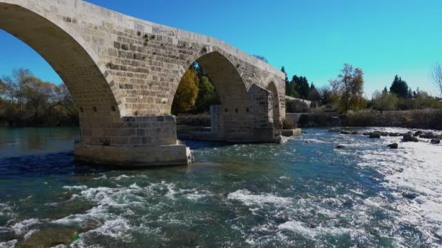 Old Stone belkıs aspendos Bridge video