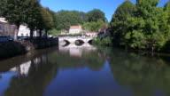 Old stone bridge in Brantome video