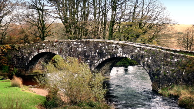 Old Stone Bridge Over River video