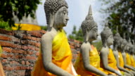 Old Stone Buddha Statues video
