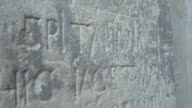 Old Stone Epitaph Inscription video