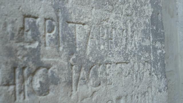 Old Stone Epitaph Inscription video