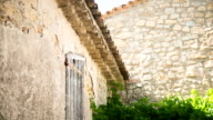 Old stone property in cute little village in South of France video