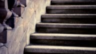 Old stone stairs video
