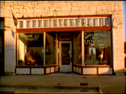 Old Store front in Texas video