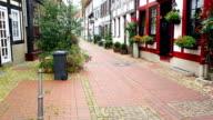 Old street in Hameln, Germany video