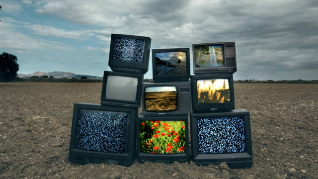 Old Televisions timelaspe video