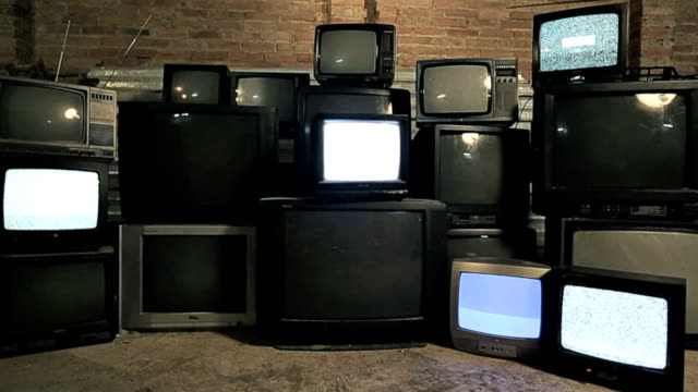 Old televisions video