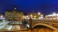 Old town Edinburgh at night, Scotland UK video