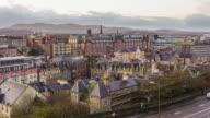 Old town Edinburgh Scotland video