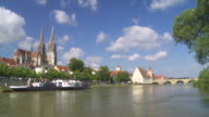 Old Town of Regensburg Time Lapse video