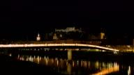 Old town of Salzburg - Night video