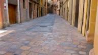 Old town street in Tarragona city, Costa Dorada Spain video